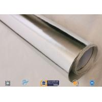 0.45mm Thick 13oz Silver Coated Fabric With Aluminium Foil For Facing Manufactures