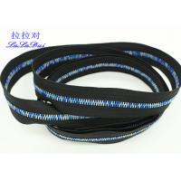 Quality Rainbow Teeth Long Chain Zipper In Roll Black Cotton Tape Customized For Clothes for sale