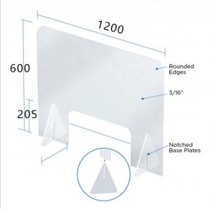 50mm Clear Plastic Sneeze Guard Manufactures