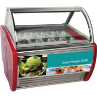 1100W Gelato Ice Cream Display Freezer With 8 / 10 / 12 / 20 Pans Manufactures