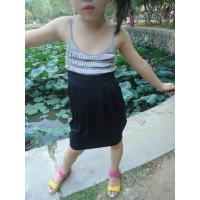 Classy Summer Lovely Girls Pleated Dress , Black Girls Spaghetti Strap Dress Manufactures