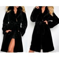 China Fashionable Design Long Style Coat Black Coat for Winter or Autumn on sale