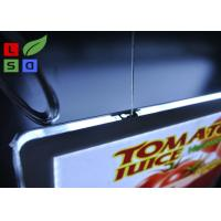 Removable Magnetic Crystal LED Light Box Display A3 A4 Poster Size Hanging Power Wire System Manufactures