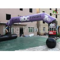 Red Outdoor 9x4m  Durable Inflatable Banners Arches For Events Or Promotion Manufactures