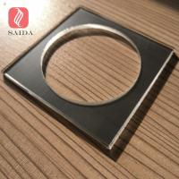 Ultra clear low-iron thermal heat tempered glass 4mm with CNC hole and  polished edges for home furniture coaster Manufactures