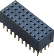 Female Header Connector 2.0mm Three Row 180° DIP H=6.5mm  LCP UL94V-0 Phosphor Bronze