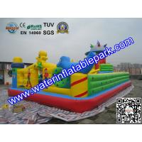 Funny Inflatable Amusement Park / Mobile Inflatable Fun City Bouncer
