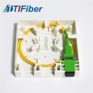 Quality 2 Port FTTH Terminal Box 2 Port Socket Panel Optical fiber information panel box for sale