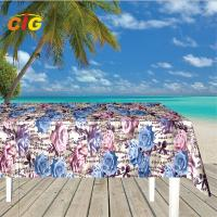 500GSM Printied PVC Film Plastic Tarpaulin Fire - Resistant For Table Cloth Manufactures