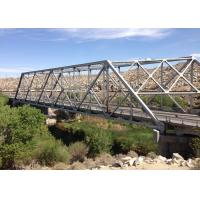 Long Span Galvanized Surface Treatment Steel Truss Bridge Modern Structural Outlooking Manufactures