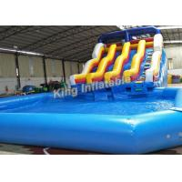 Buy cheap 6.5m High Giant Double Lane Inflatalbe Water Slide With Swimming Pool from wholesalers
