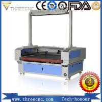 China China professional laser manufacturer laser cutting machine with CCD and feeding table. TLF1390-CCD. THREECNC on sale