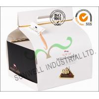 China Custom Decorative Individual Wedding Cake Boxes With Convenience Handle on sale