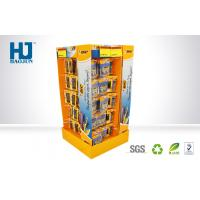 Stationery POS Strong Cardboard Hook Display Stands 4 sides to pens Manufactures