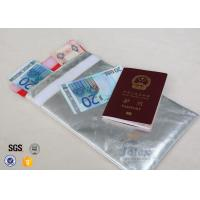"""10.6"""" x  6.7"""" Fireproof Document Pouch With Red Polyester Fabric Inner Layer Manufactures"""