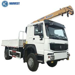 China 4t Lifting Capacity Sinotruk LHD 4x4 All Wheel Drive 266hp Truck Mounted Crane on sale