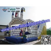 Rental Large Inflatable Bounce Slide / Inflatable Amusement Park For Event / Party Manufactures