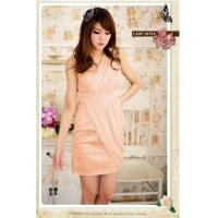 Sexy Fashion One Shoulder Wrap Chest Dress Manufactures
