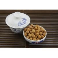 Low Fat Wasabi Roasted Chickpeas Snack , Crunchy Baked ChickpeasHard Texture