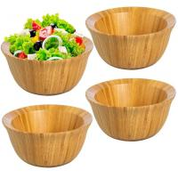 China Eco-Friendly 6inch  Bamboo Salad Bowl Set For Food Storage Display Mixing Bowls on sale