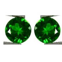 0.0065cts Round Chrome Diopside Jewelry Normal Faceted For Earings Manufactures