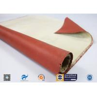 96% High Silica Cloth Coated With One Side Red Silicone  For Fireproof Manufactures