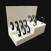 3mm White Acrylic Shop Display / Countertop Watch Display Stand Manufactures