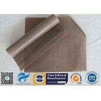 0.12Mm FDA Non Stick Silicone Baking Mat Beige PTFE BBQ Oven Liner Manufactures