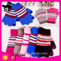 2017Yiwu new product 90%Acrylic 5%Spandex 5%Conductive fiber Winter Knitting touch screen gloves 20*11.5cm 53g Customize Manufactures