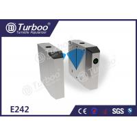 Waist Height Access Control Turnstile Gate / Flap Barrier System For Subway Station