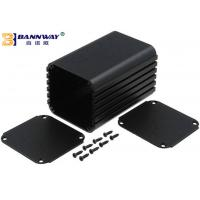Black Color Custom Extruded Aluminum Enclosures Anodized Surface Finishing Manufactures