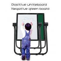 U Shape Double Sided Whiteboard / Children'S Easel Magnetic Chalkboard Manufactures