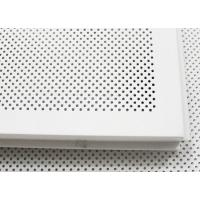 China Elegent Square perforated metal ceiling tiles Paint Coated And Soundproof on sale