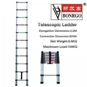 Extendable 10.5ft 11 Step Aluminium Telescopic Ladder Manufactures