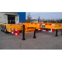 Buy cheap 45ft Flatbed Container Chassis Trailer Gooseneck Skeleton With Three Axles from wholesalers