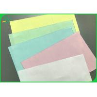 Jumbo Roll 48gsm 50gam 55gsm NCR Carbonless Paper For Computer Printing Manufactures