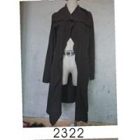 Black Wool / Acylic Womens Knitted Long Cardigan With Nice Design For Autumn Manufactures