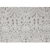 120cm Wide Polyester Water Soluble Lace Fabric , Eyelet Vintage Lace Fabric Manufactures