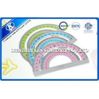 Student Semi-circle Metric Scale Ruler / 180 Degree centimeter scale ruler Manufactures