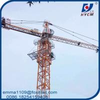 Cheap TC5610 6 Tons Jib Tower Crane For Civil Construction Projects for sale
