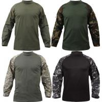 Adults Long Sleeve Military Camouflage T Shirt Custom Printing Casual Style Manufactures