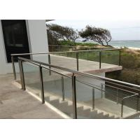 Modern Hotel Glass And Steel Staircase Railing With Clear / Brown / Grey Color Manufactures