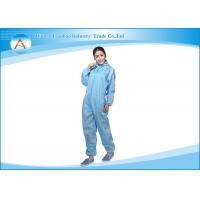 Women Blue Reusable Hooded ESD Coverall Clean RooAm Attire GMP Class 1000