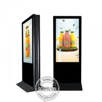 55 Inch Kiosk Digital Signage Floor Stand Dual Side Indoor LCD Advertising Screen Manufactures