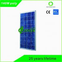 Cheap 140 Watt PV Polycrystalline Solar Panels with 25 Years Lifetime TUV Certified for sale