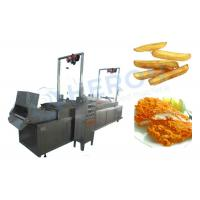 Electric Heating Automatic Fryer Machine , Deep Fried Dough Sticks Production Line Manufactures