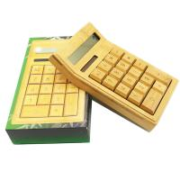 Cheap Newest design shiny hot selling natural wholesale bamboo calculator for wholesale for sale