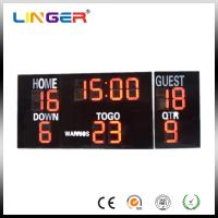China 20 Inch Large Red Digits Electronic Soccer Scoreboard For Outdoor CE / ROHS on sale