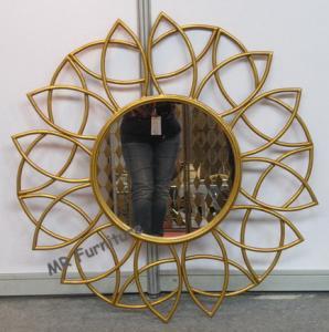 Cheap Bathroom Metal Mirror Wall Decor Gold Iron Frame Powder Coating Gold Iron Frame for sale