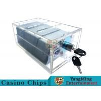 Cheap Acrylic Casino Game Accessories Dealers Card HolderFor 6 Decks Playing Cards for sale